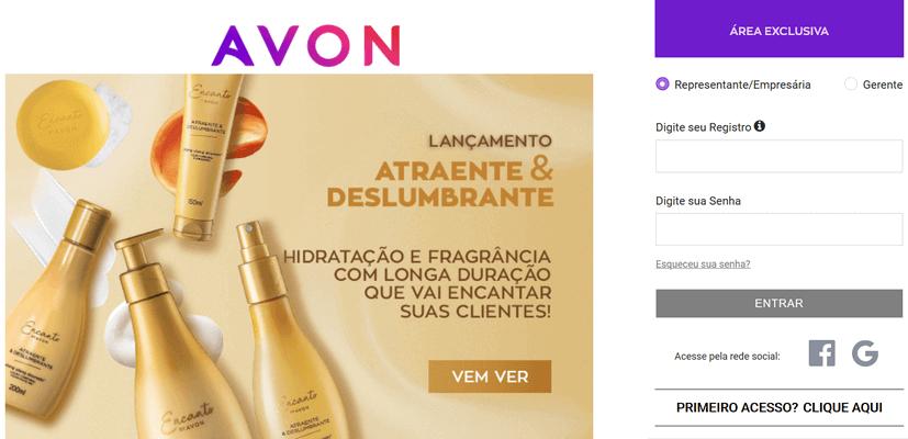 avon login www.avon.com.br